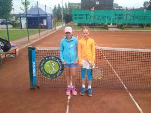 Finalistky přeboru Vanessa Dobiášová (vlevo) a Kateřina Melicharová